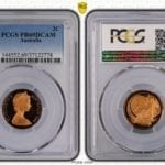 1966 Australia 2c Proof Coin PCGS Graded PR69DCAM #2778