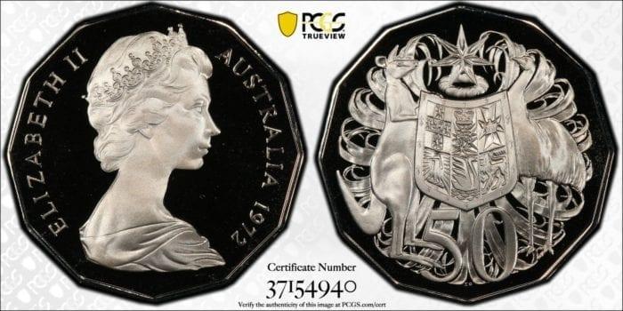 1972 Australia 50c Proof Coin PCGS Graded PR69DCAM #4940