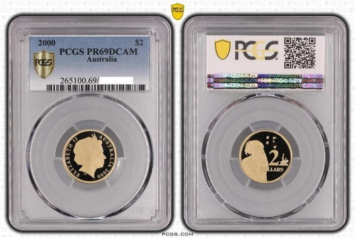 2000 $2 proof coin